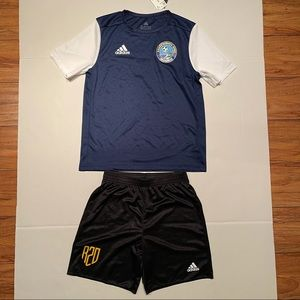 Adidas youth football soccer uniform unisex